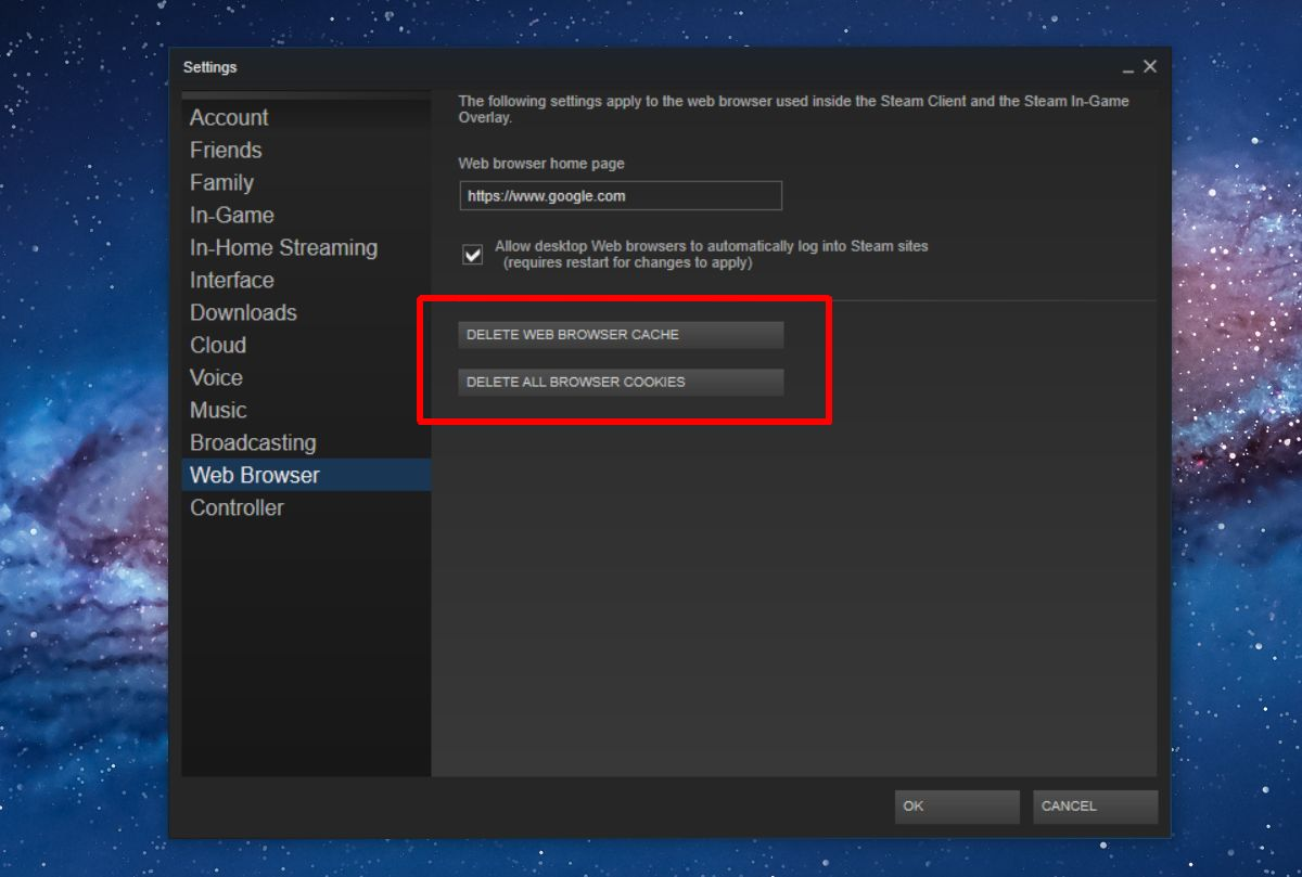 Clear Steam Download Cache